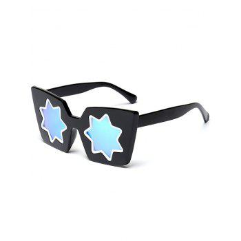 Star Geometric Frame Fancy Reflective Mirrored Sunglasses