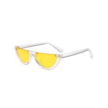 Semilunar Semi-Rimless Street Snap Sunglasses - YELLOW YELLOW