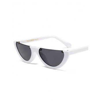 Semilunar Semi-Rimless Street Snap Sunglasses - WHITE