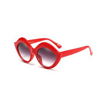 Lip Design Street Snap Anti UV Sunglasses - RED RED