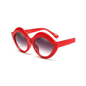 Lip Design Street Snap Anti UV Sunglasses -  RED