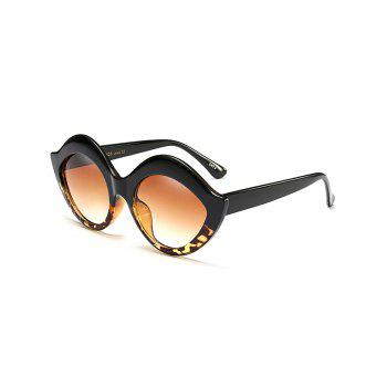 Lip Design Street Snap Anti UV Sunglasses - BLACK LEOPARD PRINT BLACK LEOPARD PRINT