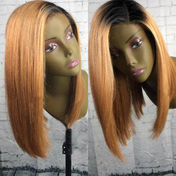 Medium Colormix Side Parting Dyed Straight Bob Synthetic Wig
