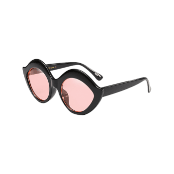 Lip Design Street Snap Anti UV Sunglasses - PINK