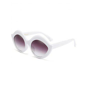Lip Design Street Snap Anti UV Sunglasses - WHITE WHITE