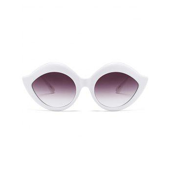 Lip Design Street Snap Anti UV Sunglasses -  WHITE