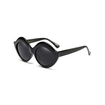 Lip Design Street Snap Anti UV Sunglasses - BLACK BLACK