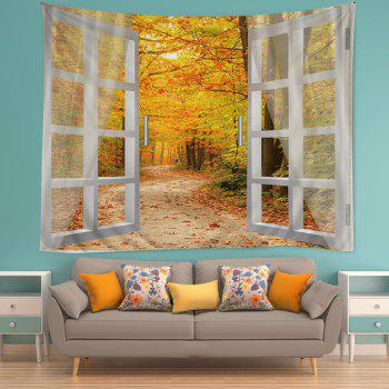 Window Maple Forest Avenue Print Tapestry Wall Hanging Art - CITRUS W79 INCH * L59 INCH