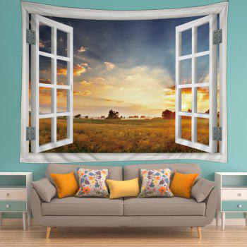 Window Prairies Print Tapestry Wall Hanging Art - CITRUS CITRUS