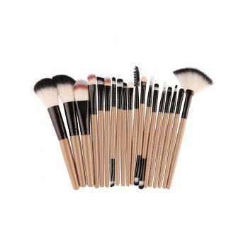 18Pcs Facial Multipurpose Makeup Brushes Kit - KHAKI+BLACK KHAKI/BLACK
