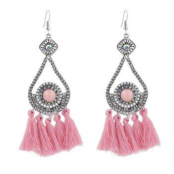 Rhinestone Teardrop Tassel Vintage Earrings