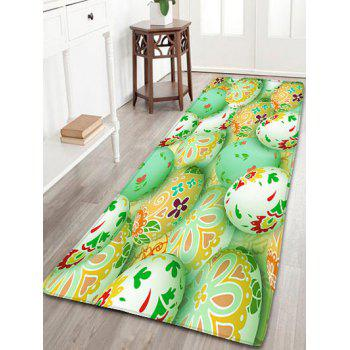 Easter Egg Printed Flannel Skidproof Area Rug