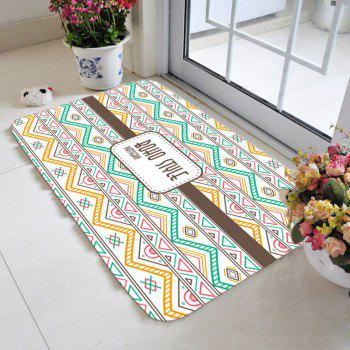 Bohemia Home Decor Geometric Zigzag Pattern Area Rug