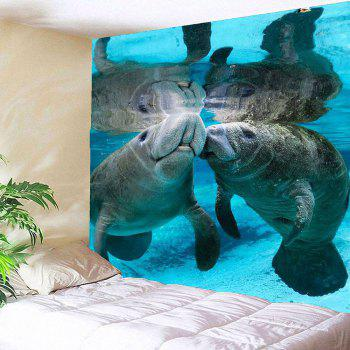 Manatee Print Waterproof Wall Art Tapestry - COLORMIX W79 INCH * L59 INCH