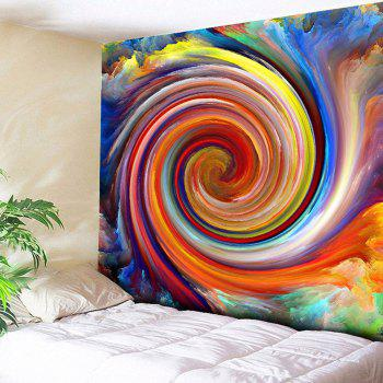 Wall Hanging Rainbow Whirlwind Printed Tapestry - COLORFUL COLORFUL