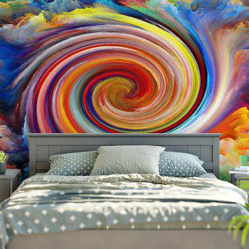 Wall Hanging Rainbow Whirlwind Printed Tapestry - COLORFUL W59 INCH * L51 INCH