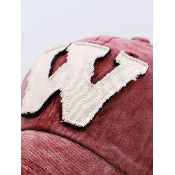 Lettre W Embellished Make Old Hat de baseball - Rouge vineux