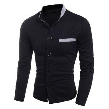 Stand Collar Single Breasted Edging Jacket