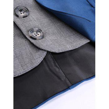 Two Tone Single Breasted Faux Twinset Waistcoat - 2XL 2XL