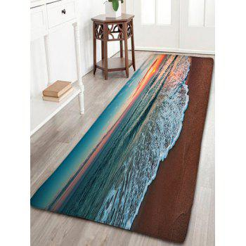 Flannel Skidproof Beach Pattern Area Rug