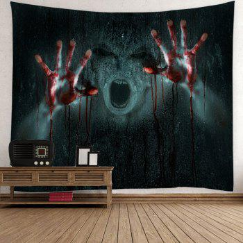 Halloween 3D Horrible Pattern Wall Hanging Tapestry - BLACK W79 INCH * L59 INCH