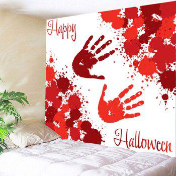 Halloween Blood Palm Pattern Wall Tapestry