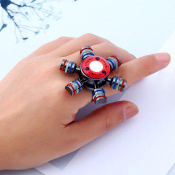 Fidget Spinner Adjustable Finger Ring -  GUN METAL