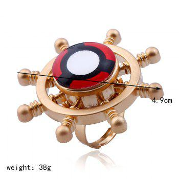 Helm Shape Fidget Spinner Adjustable Finger Ring -  GOLDEN