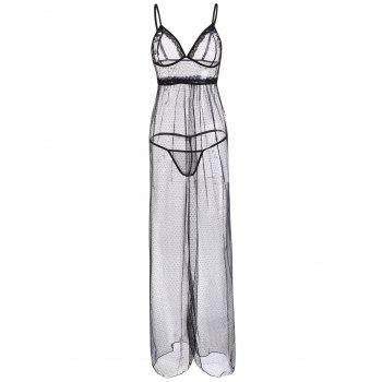 Mesh See Through Maxi Cami Dress