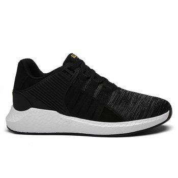 Pinstripe Breathable Athletic Shoes - BLACK 43