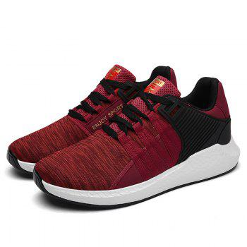 Pinstripe Breathable Athletic Shoes - RED 43