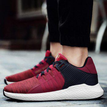 Pinstripe Breathable Athletic Shoes - RED 41