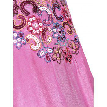Sequin Embroidered Plus Size Tunic Top - ROSE MADDER ROSE MADDER