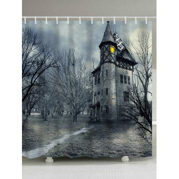 Mystical Castle Halloween Decoration Shower Curtain