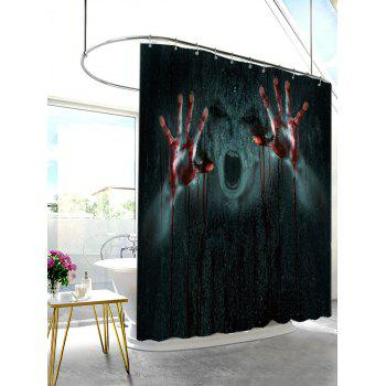 Bloody Hands Waterproof Halloween Shower Curtain - BLACK GREY W71 INCH * L79 INCH