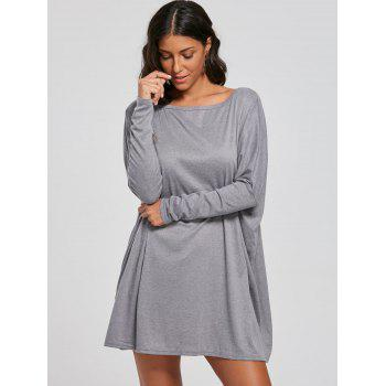 Top de tunique à manches batwing - Gris XL