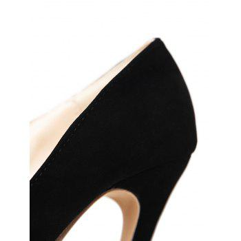 Pointed Toe V Shape Pumps - 39 39