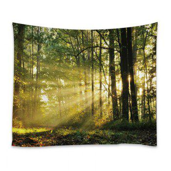 Forest Sunlight Print Tapestry Wall Hanging Decor - Vert W91 INCH * L71 INCH