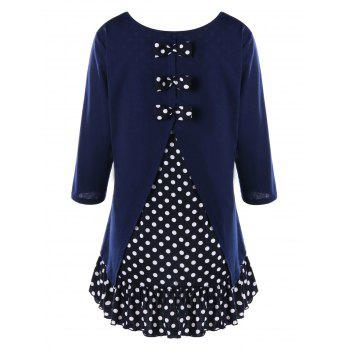 Plus Size Polka Dot Flounced Tunic Dress