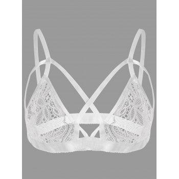 Strappy Crossed Lace Bralette