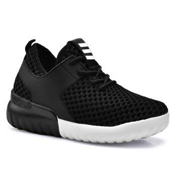 Mesh Breathable PU Leather Insert Athletic Shoes