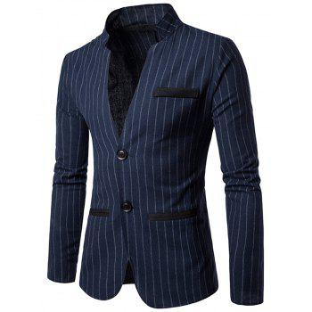 Slim Fit Vertical Stripe Casual Blazer