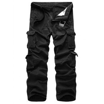 Zip Fly Straight Cargo Pants with Pockets
