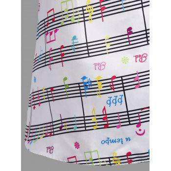 Music Note Print Swing Party Dress - COLORFUL 2XL