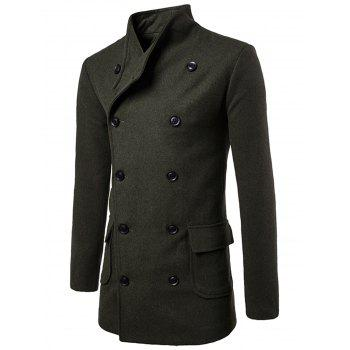 Double Breasted Tie-waist Wool Blend Coat