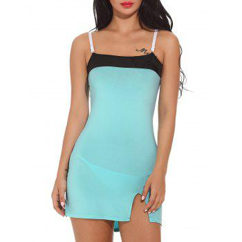 Color Block Cami Bodycon Mini Dress