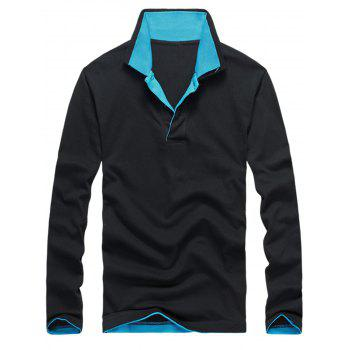 Two Tone Double Collar Polo Shirt