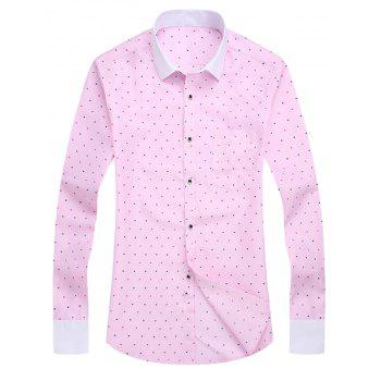 Long Sleeve Polka Dot Print Shirt
