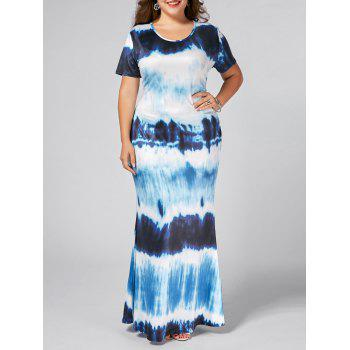 Plus Size Ombre Long Bodycon Dress