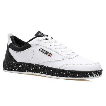 Splatter Paint Sole Faux Leather Sneakers